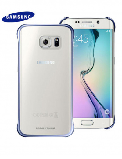 Official Samsung Galaxy S6 Edge Clear/Blue Cover