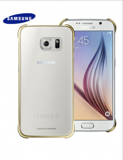 Official Samsung Galaxy S6 Clear/Gold Cover