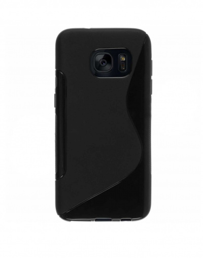 Black Samsung Galaxy S7 Gel S-Line Case