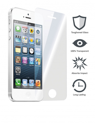 iPhone 5/5s/5c/SE Tempered Glass Screen Protector