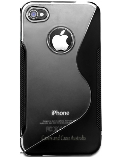 iPhone 4S S Line Gel Silicone Black Case