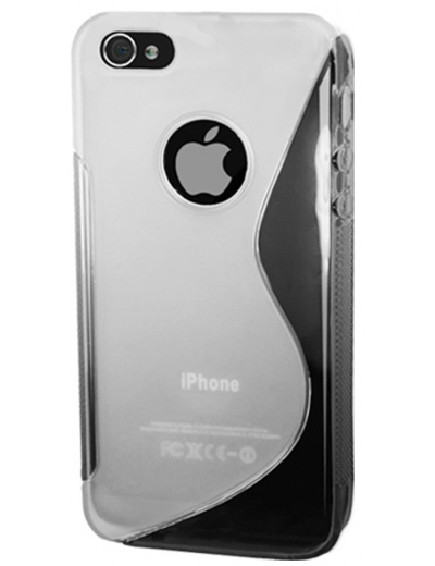 iPhone 4S S Line Gel Silicone Clear Case