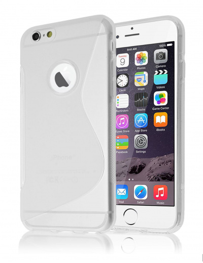 Clear iPhone 6/6s PLUS Gel S-Line Case