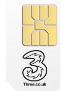 Three Pay As You Go Sim Card