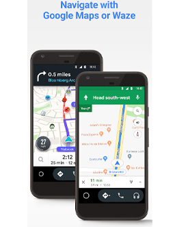 Android Auto is an app designed for drivers. There are 2 versions, one that can link to a car with a suitable screen or HUD, or one that simply works using your phone screen.